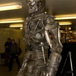 Terminator robot makes appearance in Toronto subway