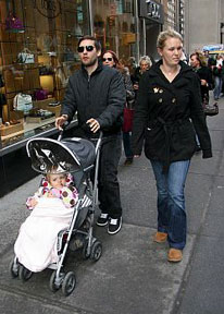 Tobey Maguire and family
