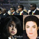 Jackson's love child sat in front row at memorial
