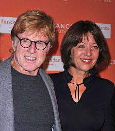 Robert Redford and wife