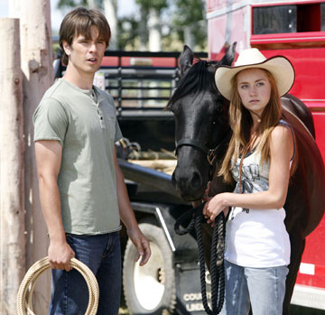 Graham Wardle as Ty and Amber Marshall as Amy