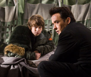 Liam James and John Cusack in 2012