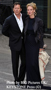 Arpad Busson and Uma Thurman in June 2009