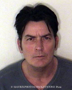 Charlie Sheen booking shot