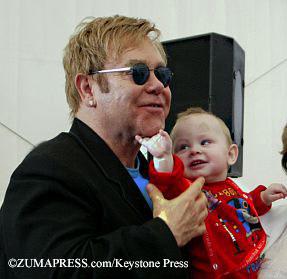 Elton John with Lev