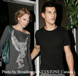 Taylor Swift and Taylor Lautner on a date