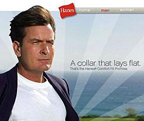 Charlie Sheen Hanes ad