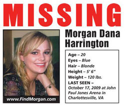 Morgan Dana Harrington missing poster