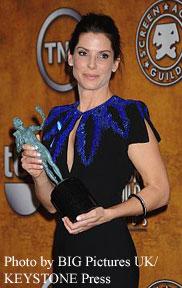 Sandra Bullock with her SAG award