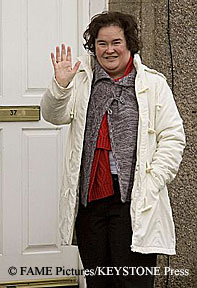 Susan Boyle at her home in Scotland
