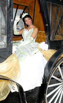 Princess Tiana arrives