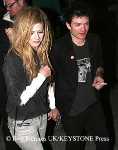 Avril Lavigne and Deryck Wibley