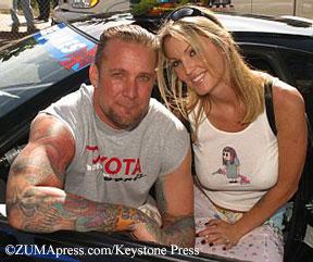 Jesse James and Janine Lindemulder in 2003