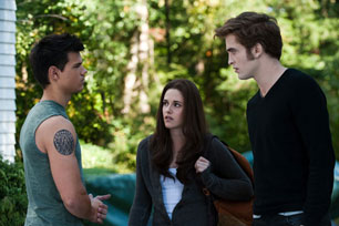 Taylor Lautner, Kristen Stewart and Robert Pattinson
