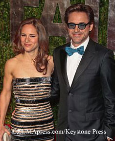 Robert Downey and wife Susan Levin