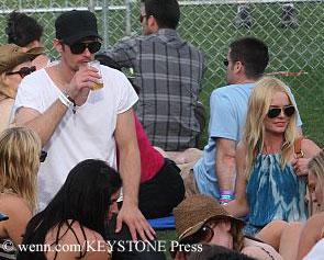 Alexander Skarsgard and Kate Bosworth at music festival