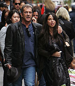 Mel Gibson with Russian girlfriend