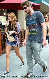 Miley Cyrus and boyfriend Liam Hemsworth