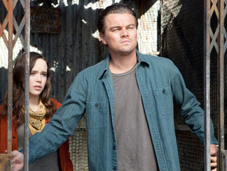 Ellen Page and Leonardo DiCaprio in Inception