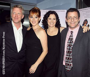 L-R: Anthony Michael Hall, Molly Ringwald, Ally Sheedy, and Judd Nelson