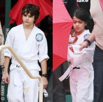 Prince and Blanket Jackson at karate class