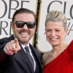 Ricky Gervais arrived with his wife, producer Jane Fallon on the red carpet.