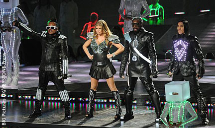 Black Eyed Peas performed during Half Time