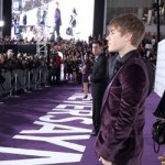 Justin eyes the crowd