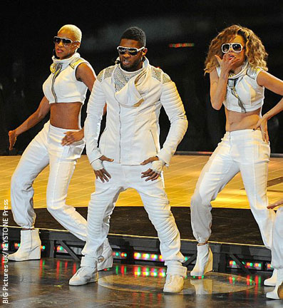 Usher performed during half time