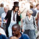 Russell Brand and Helen Mirren in Arthur.