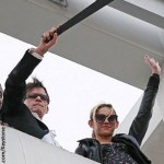 Charlie Sheen waves machete after being axed