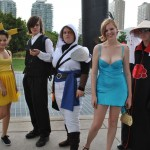 Fans were wearing all kinds of colorful costumes to Fan Expo