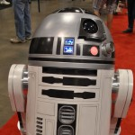 The adorable R2D2 was rolling around the Convention Centre, meeting fans