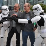Robert Englund and Lance Henrikson with Stormtroopers