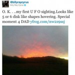 Billy Ray Cyrus tweets pic of alien sighting