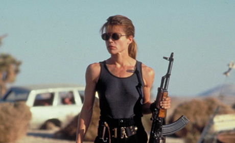 On the run from a killing machine, Linda Hamilton doesn't just sit back and hope to be saved in Terminator. She does whatever she can to save herself and her future son, even if it means using heavy machinery.