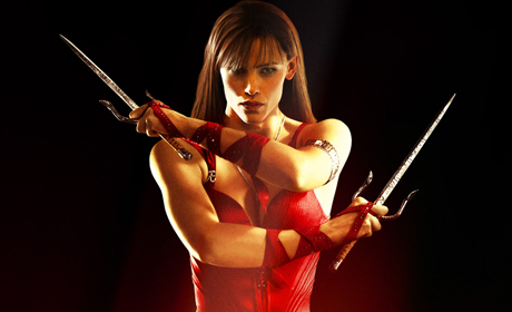 Martial artist Elektra Natchios (Jennifer Garner) falls in love in Daredevil, but that doesn't mean she can't take care of business — when her father is killed, she goes after the murderer without hesitation.