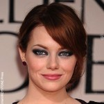 Emma Stone arriving at the 69th Annual Golden Globe Awards held at the Beverly Hilton Hotel, Los Angeles