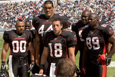 How do you get a group of inmates to play together on a football team? You pit them against the guards. Former NFL star Paul Crewe (Adam Sandler) is sent to prison and in an attempt to exact revenge, he rallies up the prison troops for a showdown on the field where anything goes.