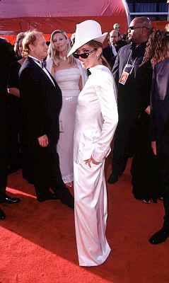 It may have been over a decade ago but how can we forget singer Celine Dion's questionable fashion statement at the 1999 Oscars? She walked the red carpet in a classic Dior suit but she wore it backwards and then paired it with a jaunty little fedora. Photo: ©Jerzy Dabrowski/KPA-ZUMA/KEYSTONE Press