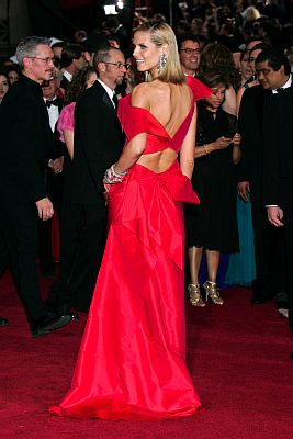 Heidi Klum wore a Red Roland Mouret gown to the 81st Annual Academy Awards. ©ZUMAPRESS.com/Keystone Press