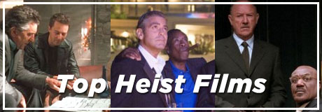 Guns, cars, explosions and secret operations–who doesn't love an action-packed plot filled with the twists and turns of crime and betrayal? Here are some of our top heist films.