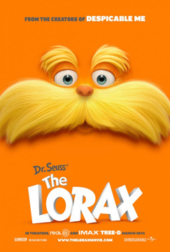 The Lorax repeats box office win