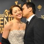 Leah Gibson and Adam Beach
