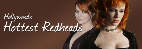 """Whoever said """"Blondes have all the fun"""" was completely wrong about this redheaded bunch! Here are some of Hollywood's Hottest Redheads."""