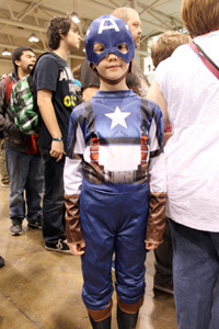 The leader of the Avengers is a young fan!