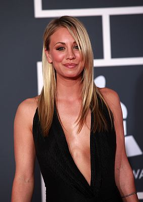 She's the sexy blonde girl next door who tempts all the nerds. Kaley Cuoco, who recently hosted the People's Choice Awards, plays Penny on the hit comedy television series The Big Bang Theory.