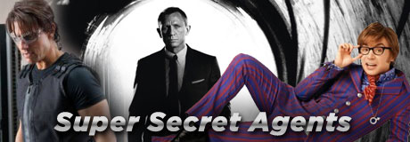 Hollywood loves action and it also enjoys some intrigue. That's why the secret agent genre is always an audience favorite. Here's a list of some of our best-lovedspies who have thrilled, chilled and wooed viewers.