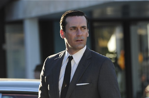 Don Draper is good at a lot of things, but parenting is not one of them. He relies on the women in his life to take on the task of childcare rather than being a hands-on dad himself. Jon Hamm plays the lazy father in Mad Men.