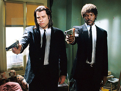 Not Quentin Tarantino's first film, but definitely the one that brought him the most attention. Pulp Fiction follows the tales of two mob men, a gangster's wife, a boxer, a couple of thieves, and a number of other equally exciting characters. Packed with tons of violence, blood, and Tarantino's trademark witty dialogue.